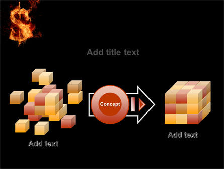 Flaming Dollar PowerPoint Template Slide 17