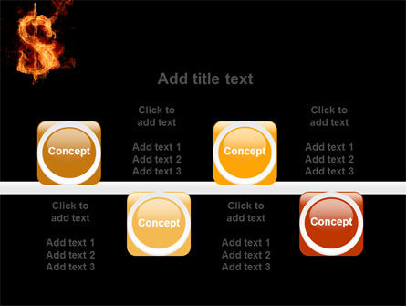 Flaming Dollar PowerPoint Template Slide 18