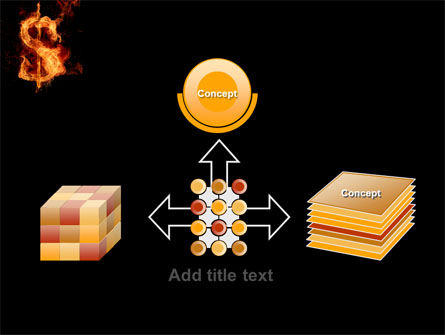 Flaming Dollar PowerPoint Template Slide 19