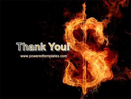 Flaming Dollar PowerPoint Template Slide 20