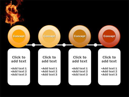 Flaming Dollar PowerPoint Template Slide 5