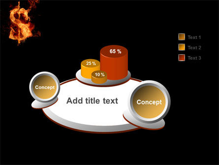 Flaming Dollar PowerPoint Template Slide 6