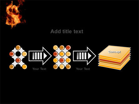 Flaming Dollar PowerPoint Template Slide 9