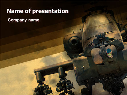 Military Helicopter Powerpoint Template Backgrounds 05348
