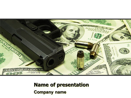 Money and Guns PowerPoint Template