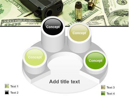 Money and Guns PowerPoint Template Slide 12