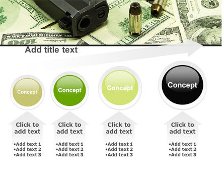 Money and Guns PowerPoint Template Slide 13