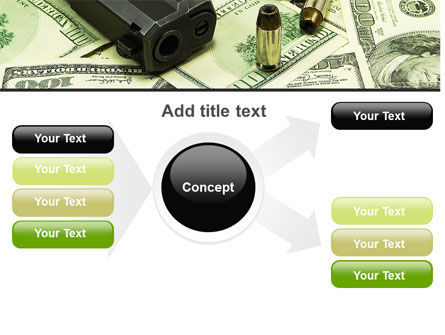 Money and Guns PowerPoint Template Slide 14