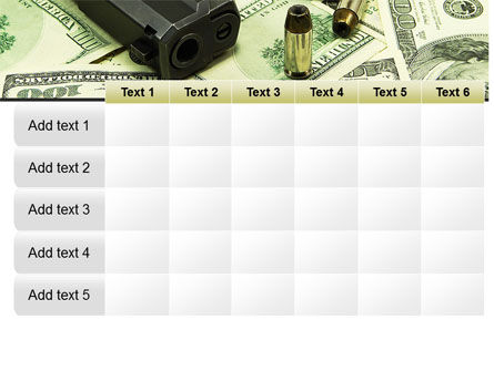 Money and Guns PowerPoint Template Slide 15