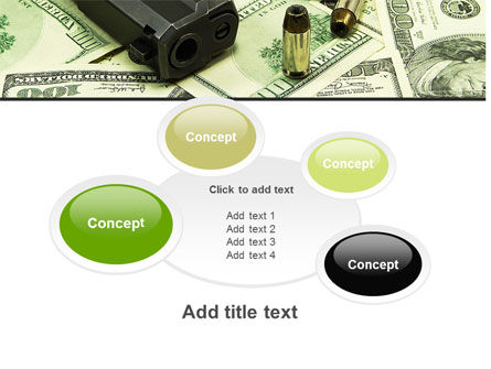Money and Guns PowerPoint Template Slide 16