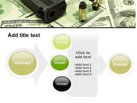 Money and Guns PowerPoint Template Slide 17