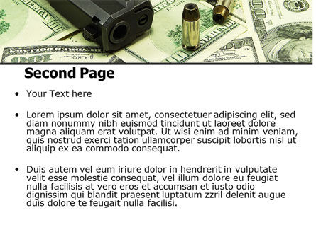 Money and Guns PowerPoint Template Slide 2