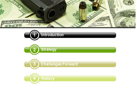 Money and Guns PowerPoint Template Slide 3