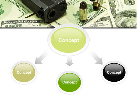 Money and Guns PowerPoint Template Slide 4