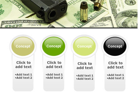 Money and Guns PowerPoint Template Slide 5
