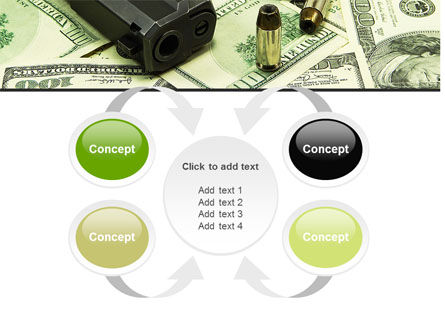 Money and Guns PowerPoint Template Slide 6