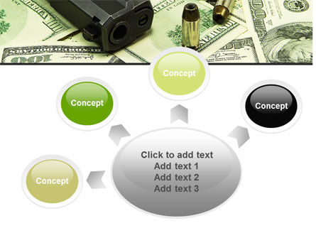 Money and Guns PowerPoint Template Slide 7