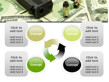 Money and Guns PowerPoint Template Slide 9