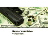 Financial/Accounting: Money and Guns PowerPoint Template #05349