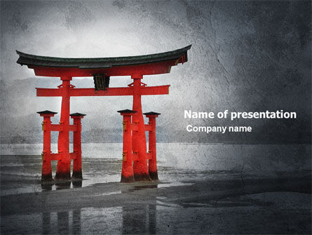 ancient japan powerpoint template, backgrounds | 05350, Powerpoint templates