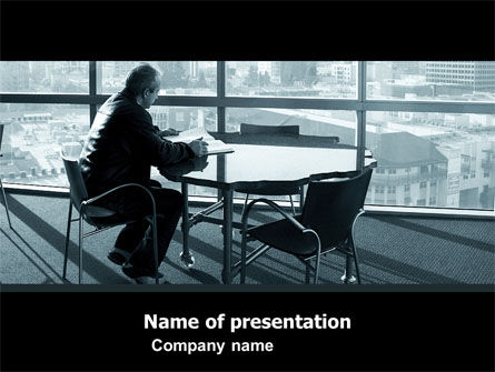 Waiting PowerPoint Template, 05351, Business — PoweredTemplate.com