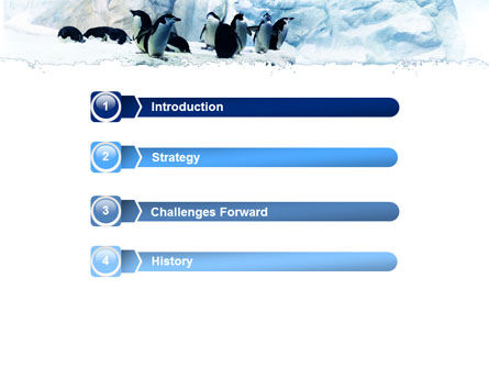 Penguins On The Iceberg PowerPoint Template Slide 3