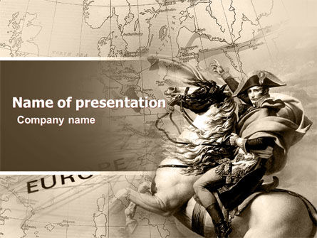 Napoleon PowerPoint Template, 05354, Education & Training — PoweredTemplate.com