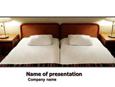 Careers/Industry: Motel Room PowerPoint Template #05357