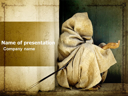 People: Asian Poverty PowerPoint Template #05361