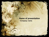 Abstract/Textures: Grunge Stars PowerPoint Template #05364