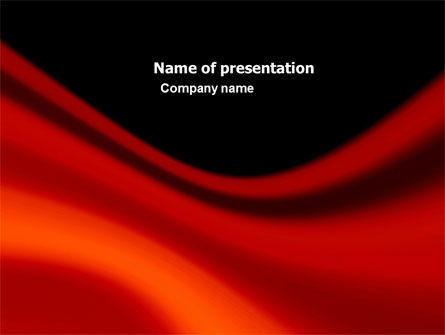 Red Wave PowerPoint Template, 05366, Abstract/Textures — PoweredTemplate.com