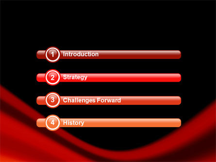 Red Wave PowerPoint Template, Slide 3, 05366, Abstract/Textures — PoweredTemplate.com
