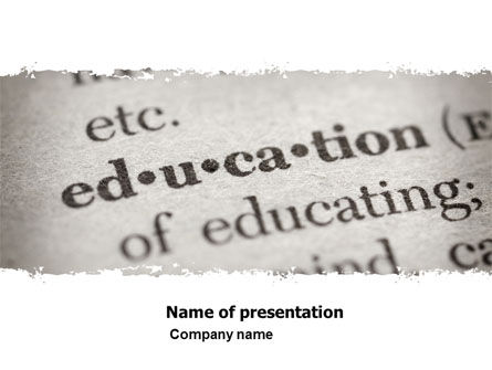 Education & Training: Glossary PowerPoint Template #05367