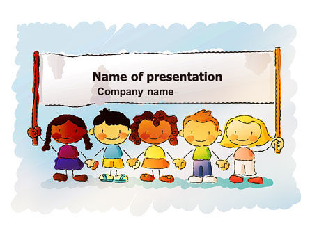 Education & Training: Childish PowerPoint Template #05368