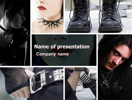Goth Culture PowerPoint Template, 05369, People — PoweredTemplate.com