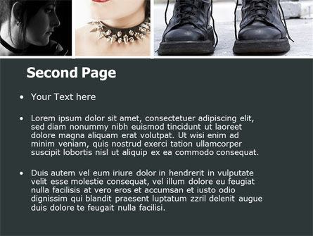 Goth Culture PowerPoint Template, Slide 2, 05369, People — PoweredTemplate.com