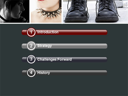 Goth Culture PowerPoint Template, Slide 3, 05369, People — PoweredTemplate.com