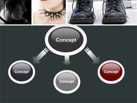 Goth Culture PowerPoint Template, Slide 4, 05369, People — PoweredTemplate.com