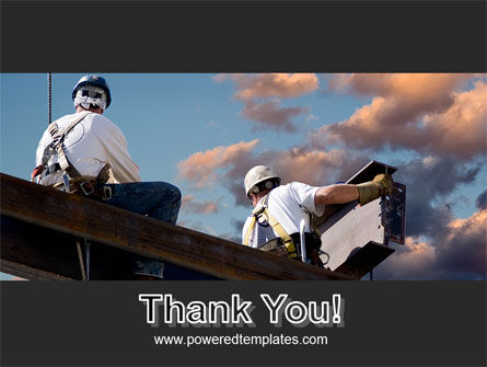 Builders On Roof PowerPoint Template Slide 20