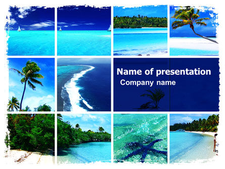 Exotic Beaches PowerPoint Template, 05371, Careers/Industry — PoweredTemplate.com