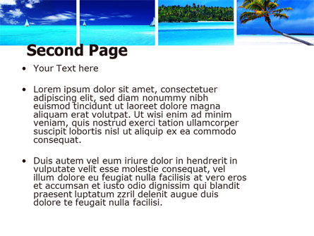 Exotic Beaches PowerPoint Template Slide 2