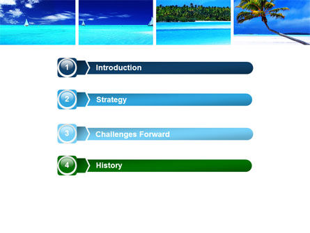Exotic Beaches PowerPoint Template Slide 3