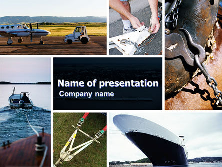 Towing PowerPoint Template, 05373, Careers/Industry — PoweredTemplate.com