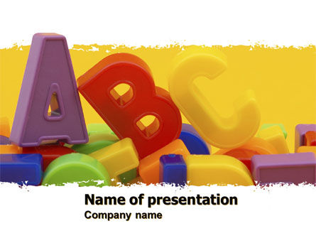 Alphabet PowerPoint Template