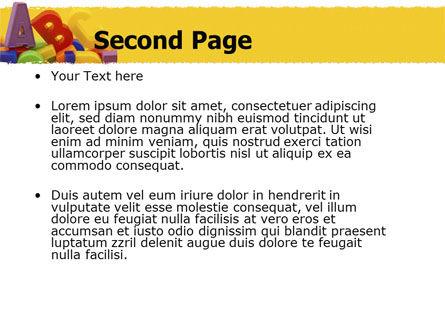 Alphabet PowerPoint Template, Slide 2, 05374, Education & Training — PoweredTemplate.com