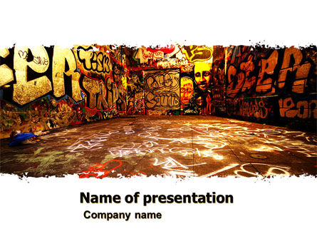 Graffiti Zone PowerPoint Template, 05376, Art & Entertainment — PoweredTemplate.com