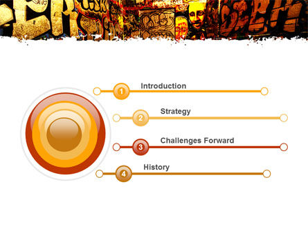 Graffiti Zone PowerPoint Template, Slide 3, 05376, Art & Entertainment — PoweredTemplate.com