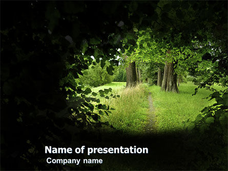 Pathway In The Forest PowerPoint Template