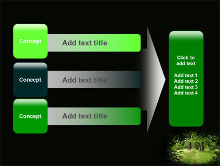 Pathway In The Forest PowerPoint Template Slide 12
