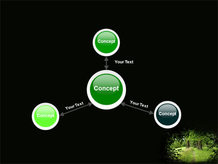 Pathway In The Forest PowerPoint Template Slide 14
